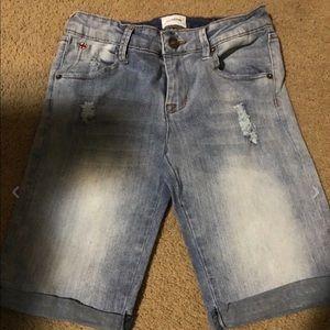 Girls Hudson Jeans Blue Denim Shorts Size 16 CUTE!